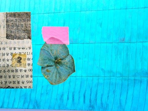 montage fleur séchée et papier chinois