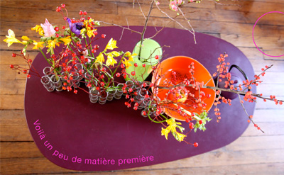 photo table et fleurs Sophie Plouvier