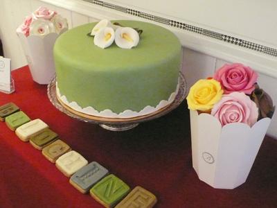 gros gâteau vert Briochine