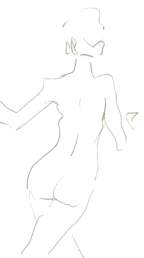 femme en peinture