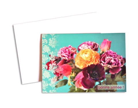 carte voeux bouquets rose copie - copie