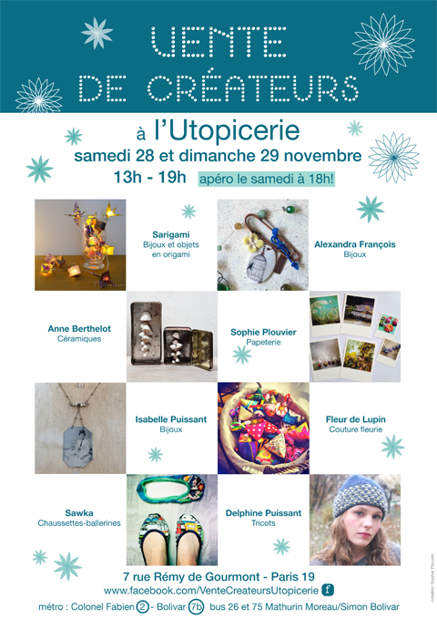 flyer vente utopicerie 2015