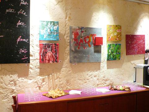 exposition Hélène Veroone à l'Hôtel Crayon
