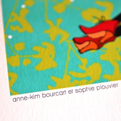 """affiche """"effleurer"""" Anne-Kim Bourcart et Sophie Plouvier (détail)"""