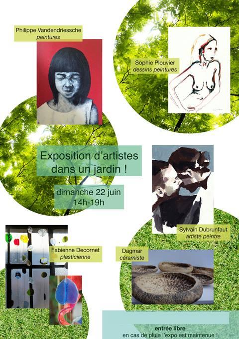 Exposition d'artistes dans un jardin dans le Nord