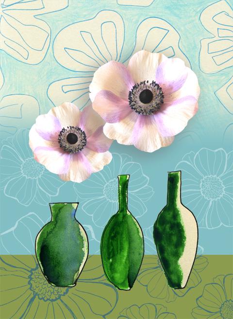 fleurs du jour, anémones