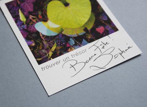 """carte de Saint Valentin Sophie Plouvier - """"trouver un trésor"""""""