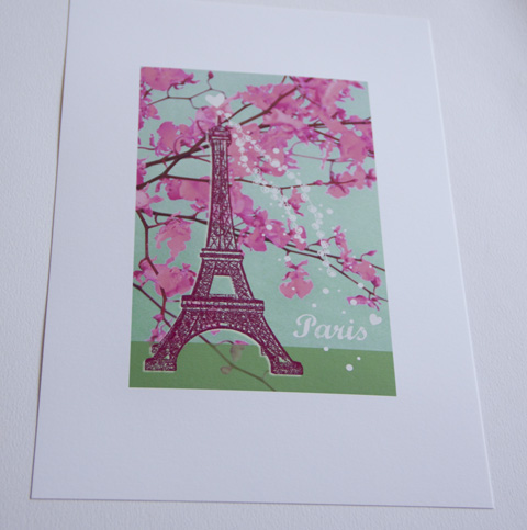 illustration Souvenir de Paris Sophie Plouvier