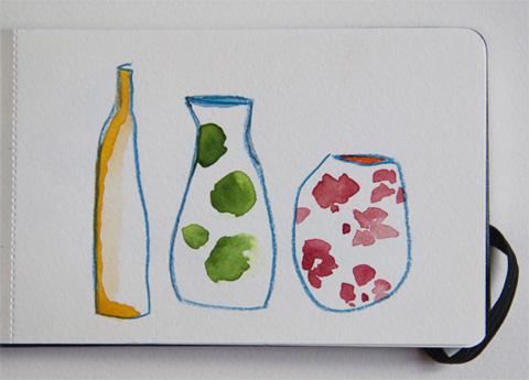 illustration Sophie Plouvier - aquarelle et crayons de couleurs