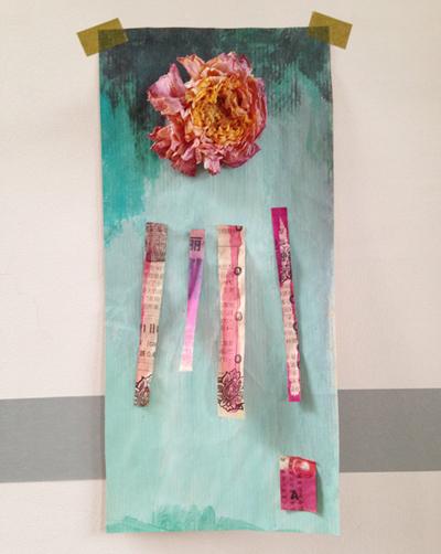 papiers découpés et peintures Sophie Plouvier