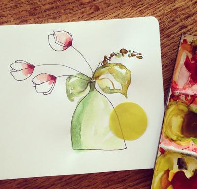 dessin aquarelle Sophie Plouvier