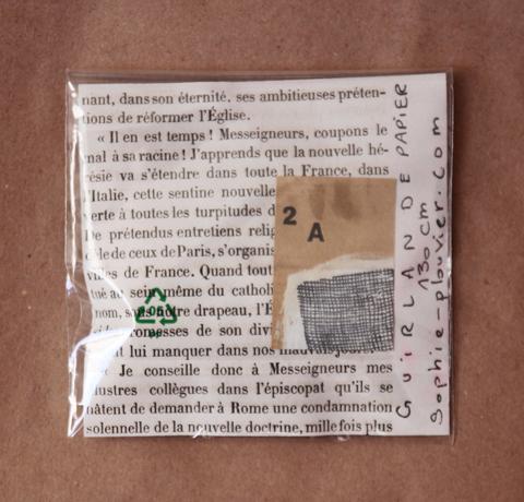 Guirlande papier vintage Sophie Plouvier