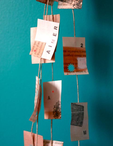 Guirlande «Aimer» papier vintage
