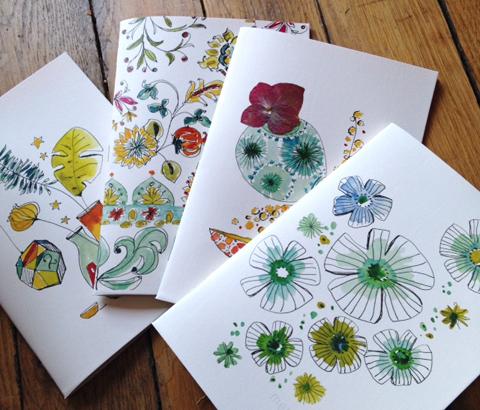 cahiers aquarelle papier vergé Sophie Plouvier