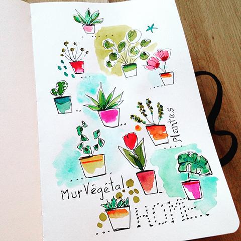 dessin Sophie Plouvier - carnet Moleskine