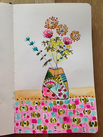 Croquis fleuris