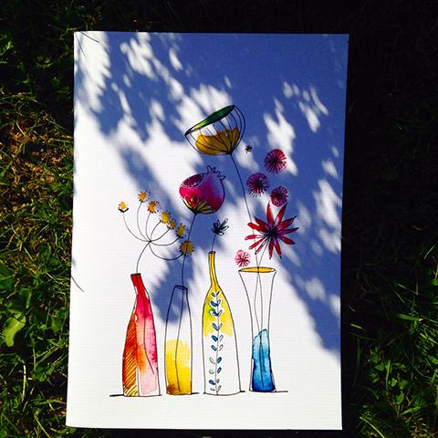 cahiers aquarelle Sophie Plouvier