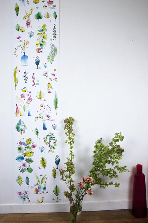 papier-peint aquarelle Sophie Plouvier