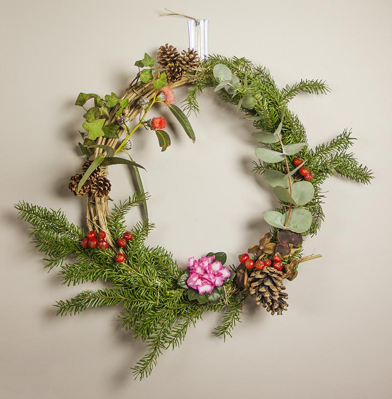 couronne végétale de Noël - Sophie Plouvier