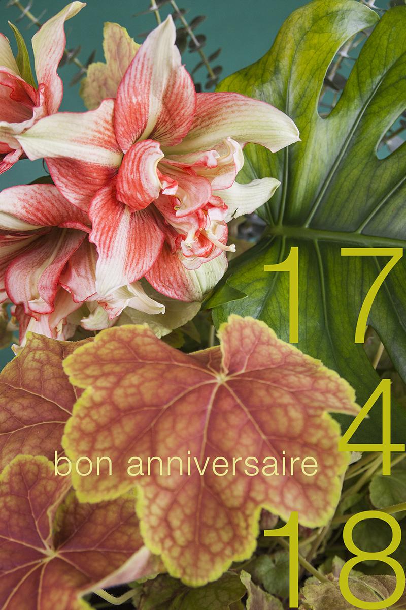 carte anniversaire fleurie et végétale jungle Sophie Plouvier