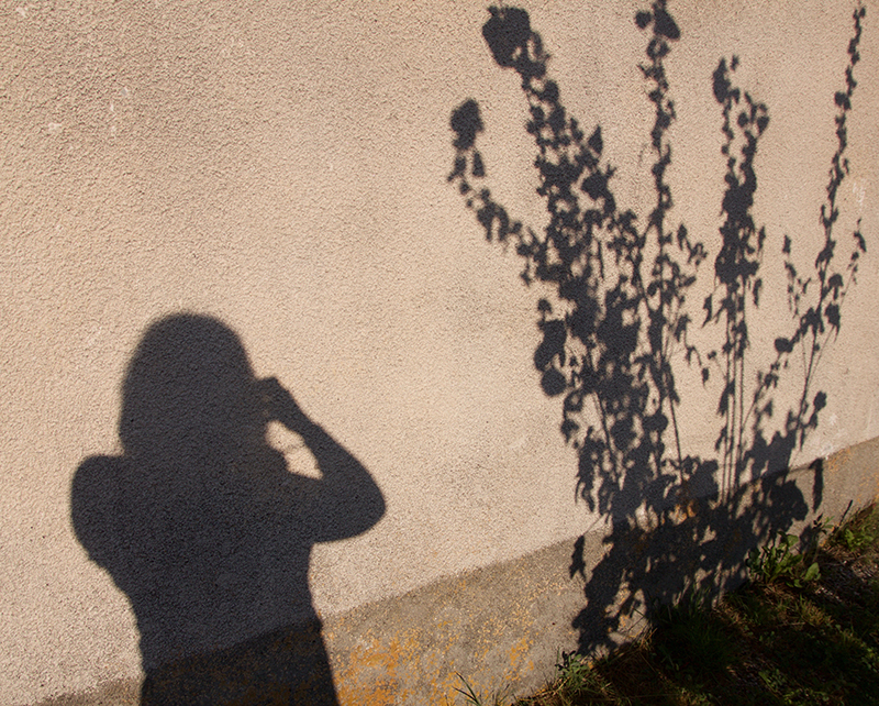 photo Sophie Plouvier - autoportrait ombres