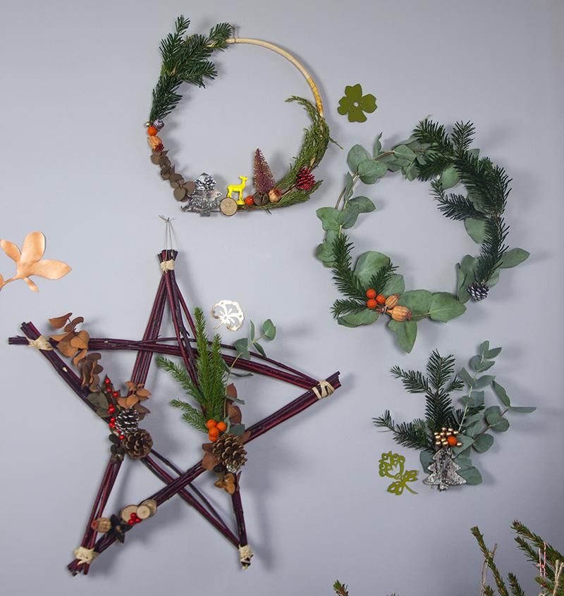 couronne de noël végétale Sophie Plouvier