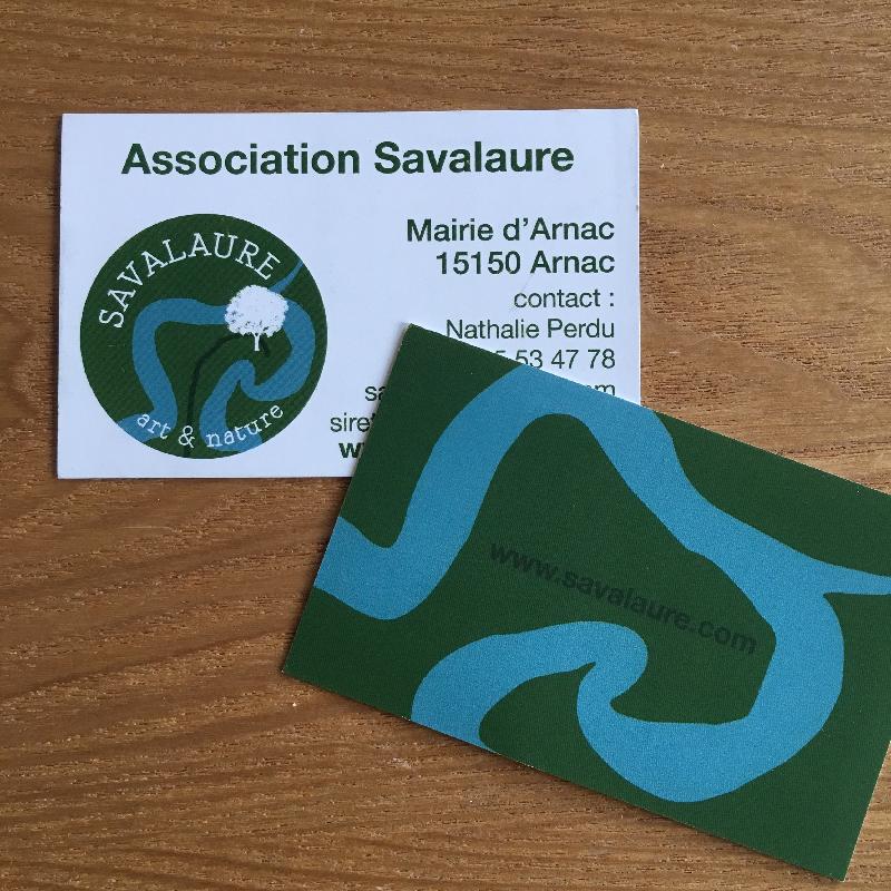 carte-de-visite Savalaure créée par Sophie Plouvier