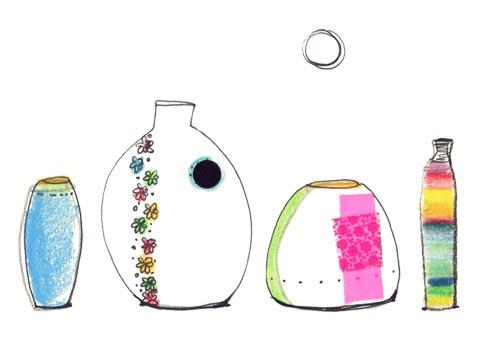 des vases au choix